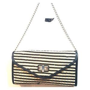 STRAW STUDIOS Sequins Striped Chain Shoulder Bag